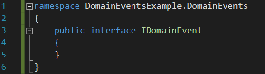 IDomainEvent