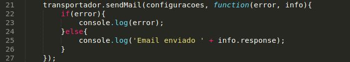 Enviar o e-mail