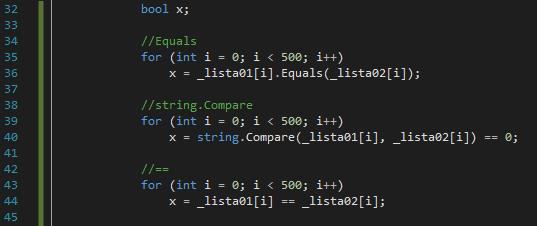 ComparacaoCodigo